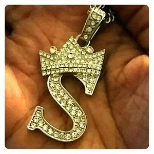 Silver S chain with Crown
